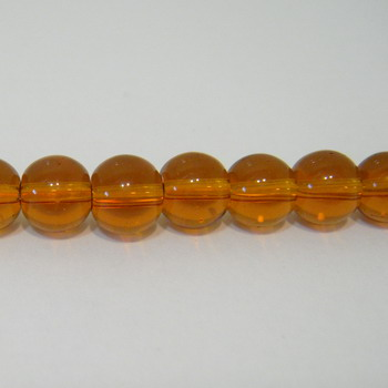 Margele sticla maro 6mm 10 buc
