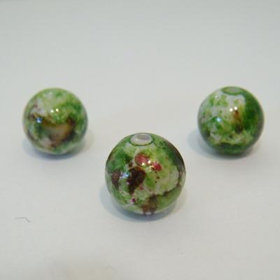 Margele plastic verde pastel 12mm 1 buc