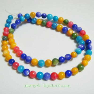 Perle sidef, multicolore, 5mm-sirag 78-80 buc 1 buc