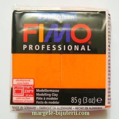 Plastelina fimo profesional 85g cod cul. 4 orange 1 buc