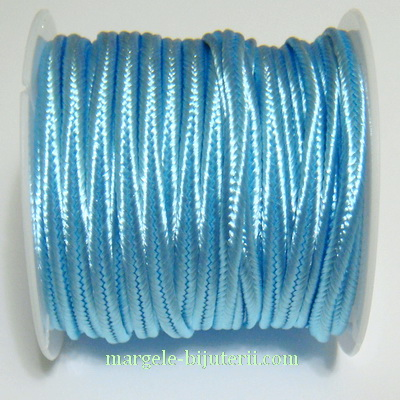 Snur Soutachee bleu, latime 2.5mm 1 rola 4 m