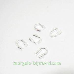Accesorii sarma (Wire Guardian), argintiu inchis, 5x4x1mm 10 buc