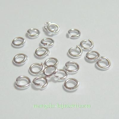 Zale simple, placate cu argint, 4x0.8mm 10 buc