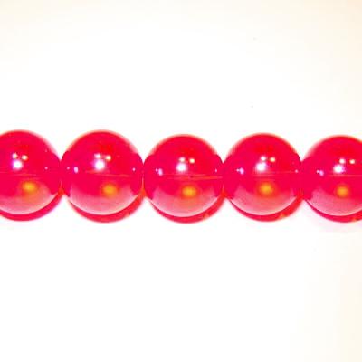 Perle sticla semitransparente rosii 8mm 10 buc
