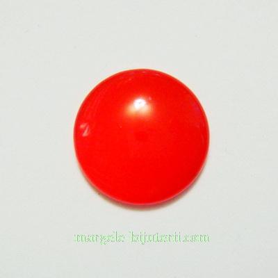 Cabochon sticla, rosu-semiopac, 18x5mm 1 buc