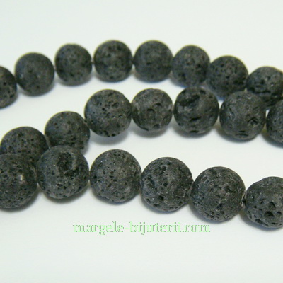 Lava sferice, negre, 10mm 1 buc