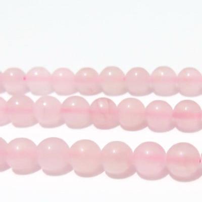 Jad translucid, roz, 8mm 1 buc