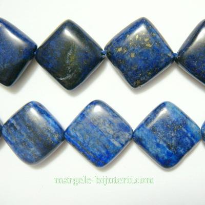 Lapis Lazuli, rombic, plat, 16x16x7mm 1 buc