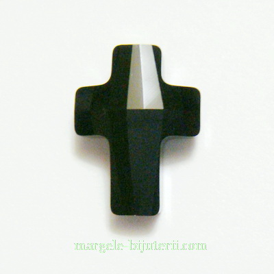 Swarovski Elements, Cross Bead 5378- Jet, 14mm 1 buc