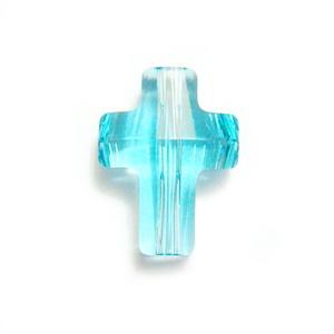 Swarovski Elements, Cross Bead 5378-Light Turquoise, 14mm 1 buc