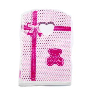 Pungi pt. cadou, rosii cu inimioare, 20x13cm cca 50 buc