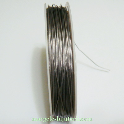 Sarma siliconata gri-argintiu, 0.6mm 5 m