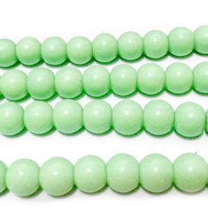 Margele sticla, verde-fistic, 8mm 10 buc