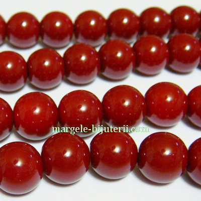 Margele sticla, bordo, 10mm 10 buc