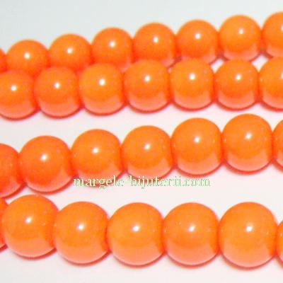 Margele sticla, portocalii, 10mm 10 buc