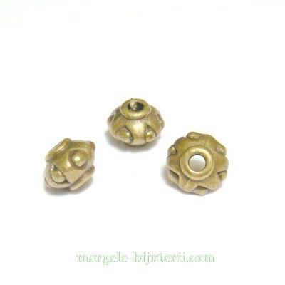 Distantier bronz, rondel, 7x5mm 1 buc