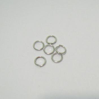 Zale simple argintiu-inchis,  5mm, grosime 0.8mm 100 buc