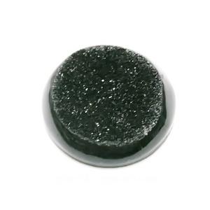 Cabochon rasina, imitatie minereu, negru, 25x6mm 1 buc