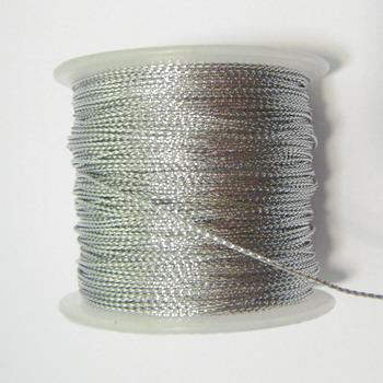 Fir lurex argintiu, 0.5mm 1 m
