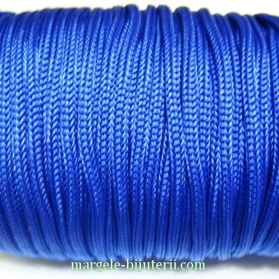 Snur albastru-cobalt, rasucit, 3mm 1 m