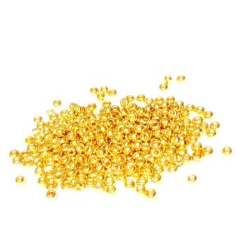 Margele nisip, aurii, metalizate, 3mm 20 g