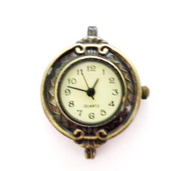 Ceas culoare bronz, 30x22mm 1 buc