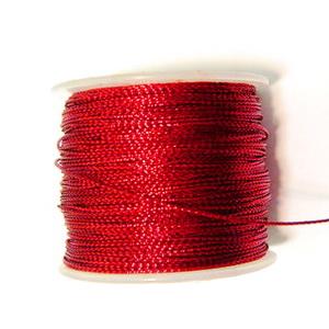 Fir lurex rosu plat, 0.5mm 1 m