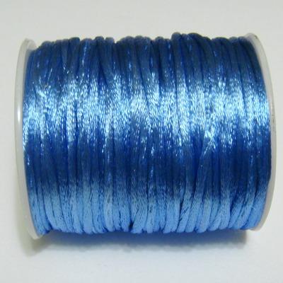 Snur saten albastru deschis 2mm 1 m