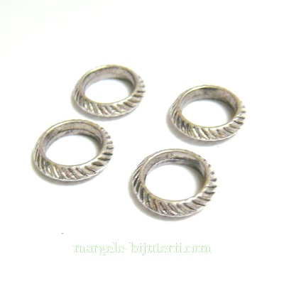 Inel in stil tibetan, 14x3mm, interior 9mm 1 buc