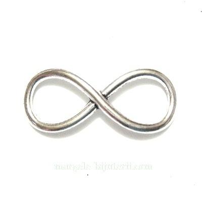 Conector/link metalic, argint tibetan, infinit, 30x12x2mm 1 buc