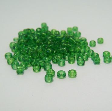 Margele sticla verzi transparente,3mm 20 g