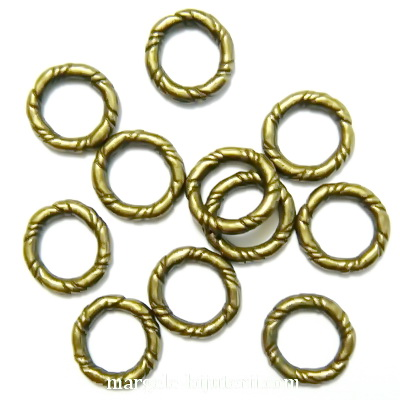 Zale decorative, bronz, 11x2mm 1 buc