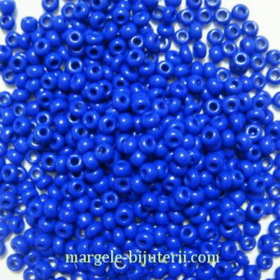 Margele nisip, sticla Cehia, albastru-cobalt, 2x2.5mm 20 g