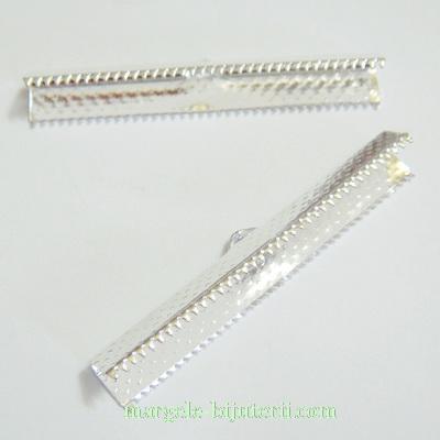 Capete prindere panglici, argintii, 45x7mm 1 buc