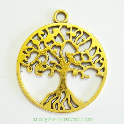 Pandantiv auriu-antic ,,copacul vietii