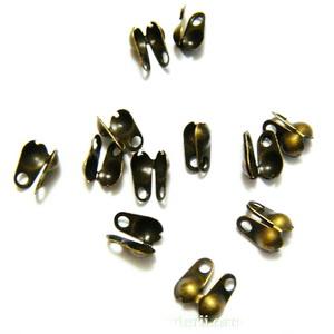 Capat prindere nod, bronz, 8x4mm 10 buc