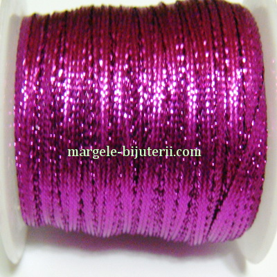 Fir lurex fucsia, plat, 3mm 1 m