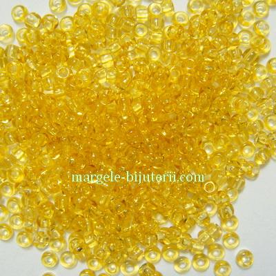 Margele nisip, Rocaille Preciosa 11/0-2mm, aurii, transparente 20 g