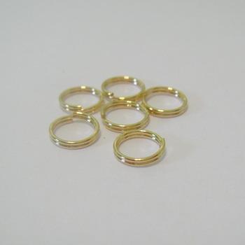 Zale duble aurii 7mm 10 buc