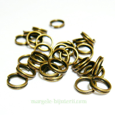 Zale duble bronz, 6mm 10 buc