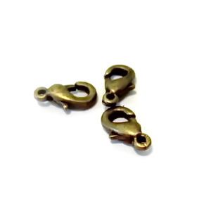 Inchizatoare ovala, bronz, 10mm 10 buc