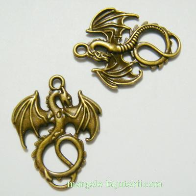 Pandantiv bronz, dragon 35x27mm 1 buc