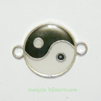 Conector/link emailat, Yin-yang, 29x21x2mm 1 buc