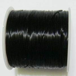 Fir elastic negru, 0.8mm, bobina 42 metri 1 buc