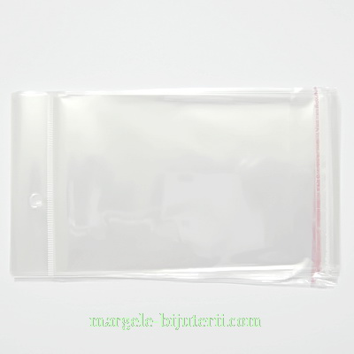 Pungi celofan, cu orificiu de prindere, 17x10cm, interior 13x10 cm 100 buc