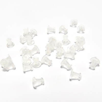 Dop silicon pt. cercei, alb, 5x5mm 10 buc