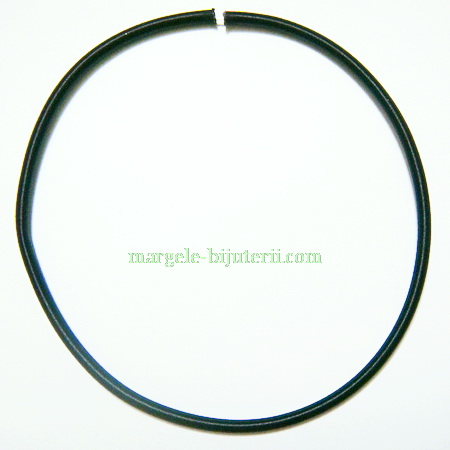 Fir silicon invelit in matase neagra, 460x5mm 1 buc
