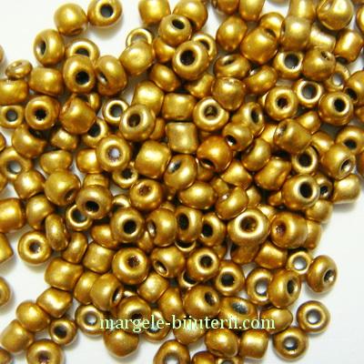 Margele nisip, aurii, perlate, 3mm 20 g