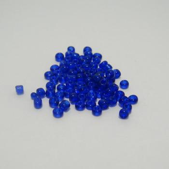 Margele nisip, transparente, indigo, 2mm 20 g