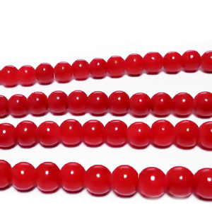 Margele sticla, rosu inchis, 6mm 10 buc